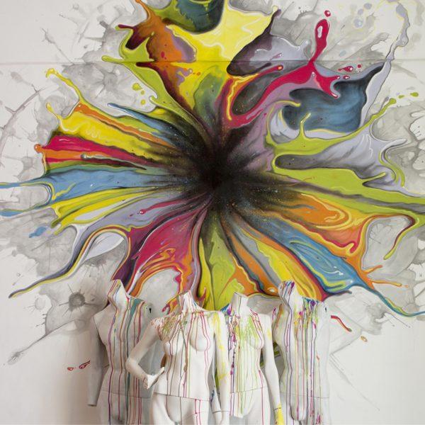 Mirko-Pugliese-Tattoo-Atelier-dipinto-su-parete-taranto-schizzo-multi-color-colori-arredo