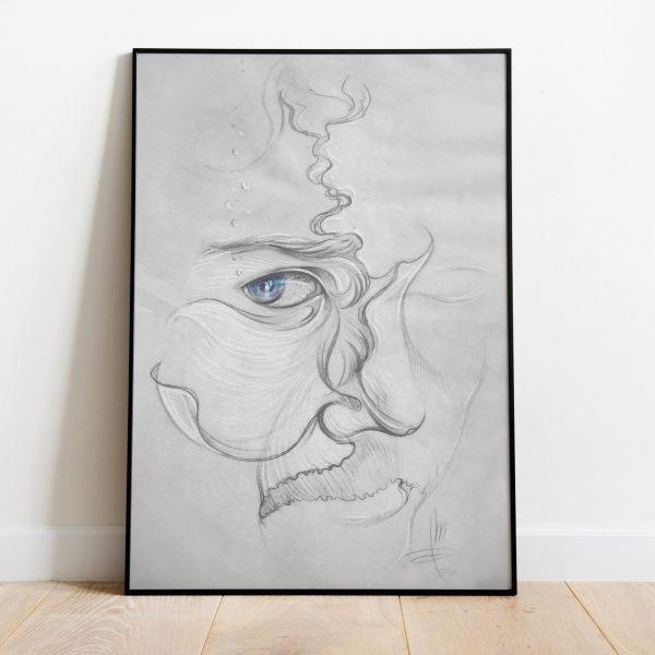 Mirko-Pugliese-Tattoo-Atelier-disegnatore-Taranto-ritratto-simbolico-pesce-luca-furlanut-surrealismo-ritratto-surrealista
