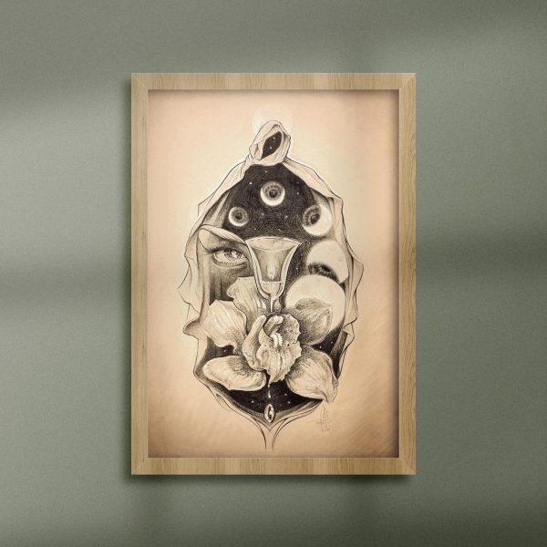 Mirko-Pugliese-Tattoo-Atelier-disegnatore-Taranto-vagina-donna-femminino-sacro-femminile-luna-fasi-lunari
